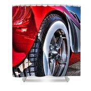 West Coast Vette Shower Curtain