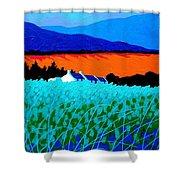 West Cork Landscape Shower Curtain by John  Nolan