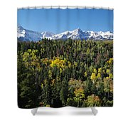 West End Of The Sneffles Shower Curtain