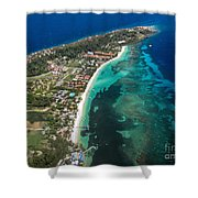 West End Roatan Honduras Shower Curtain
