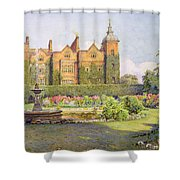 West Front And Gardens Of Hatfield Shower Curtain