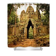West Gate To Angkor Thom Shower Curtain