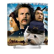 West Highland White Terrier Art Canvas Print - Dances With Wolves Movie Poster Shower Curtain