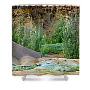 West Maui Volcanic Lava Cliffs Shower Curtain