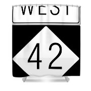 West Nc 42 Shower Curtain