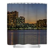 West Palm Beach At Twilight Shower Curtain