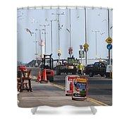 West Pier Howth Shower Curtain
