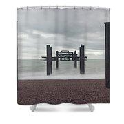 West Pier Skeleton In Brighton Shower Curtain