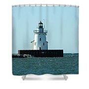 West Pierhead Lighthouse Shower Curtain