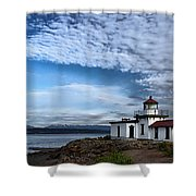 West Point Lighthouse II Shower Curtain