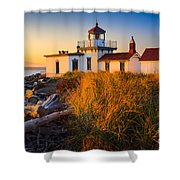 West Point Lighthouse Shower Curtain