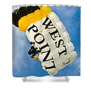 West Point Sky Diver Shower Curtain