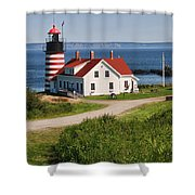 West Quaddy Lighthouse Shower Curtain