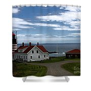 West Quoddy Lighthouse Shower Curtain