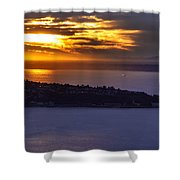 West Seattle Soaring Sunset Shower Curtain
