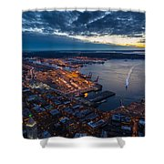West Seattle Water Taxi Shower Curtain