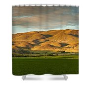 West Side Of Squaw Butte Shower Curtain
