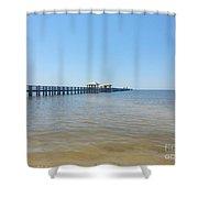 West Side Pier Shower Curtain