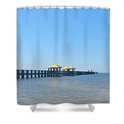 West Side Pier Gulfport Mississippi Shower Curtain