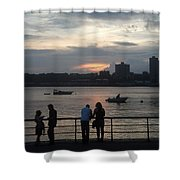 West Side Sunset Shower Curtain