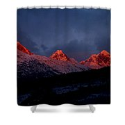 West Side Teton Sunset Shower Curtain