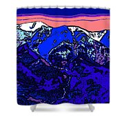 West Spanish Peak- Colorado Shower Curtain
