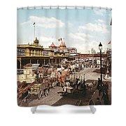West Street New York 1901 Shower Curtain