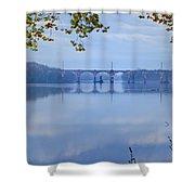 West Trenton Railroad Bridge Shower Curtain by Bill Cannon