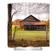 West Virginia Barn In Fall Shower Curtain