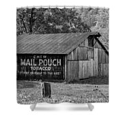 West Virginia Barn Monochrome Shower Curtain