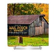 West Virginia Barn Oil Shower Curtain