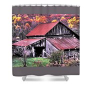 West Virginia Country Roads - Nearing The Threshold Of Yet Another Winter Shower Curtain