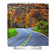 West Virginia Curves 2 Shower Curtain