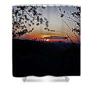 West Virginia Sunset 2 Shower Curtain