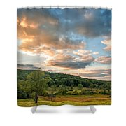 West Virginia Sunset Shower Curtain