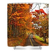 West Virginia Wandering Paint Shower Curtain