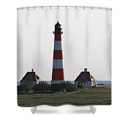 Westerhebersand Lighthouse  I- North Sea - Germany Shower Curtain