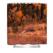 Western Barn At Sunset Iv Shower Curtain