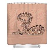 Western Diamondback Rattlesnake Shower Curtain