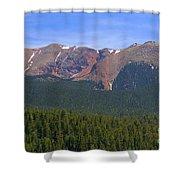 Western Face Pikes Peak Shower Curtain