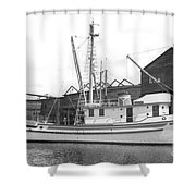 Western Flyer Purse Seiner Tacoma Washington State March 1937 Shower Curtain