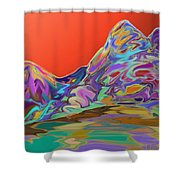 Western Glow Shower Curtain