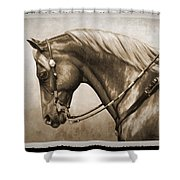 Western Horse Old Photo Fx Shower Curtain by Crista Forest