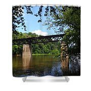Western Maryland Railroad Crossing The Potomac River Shower Curtain
