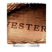 Western Stamp Branding Shower Curtain