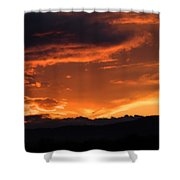 Western Sunset Shower Curtain