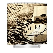 Western Time Shower Curtain