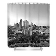 Western View Of Austin Skyline Shower Curtain