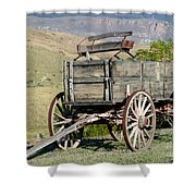 Western Wagon Shower Curtain