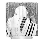 Western Wall Devotion Shower Curtain